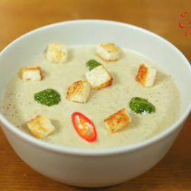 Приготовление крем-супа из шампиньонов