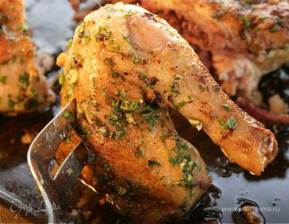 Цыпленок с чесноком