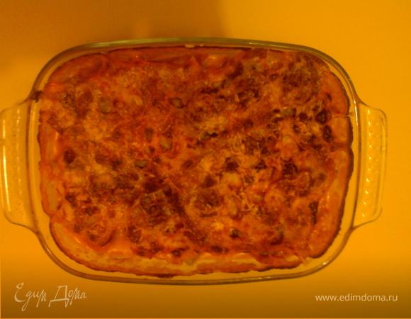 Гратэн из цветной капусты под соусом бешамель