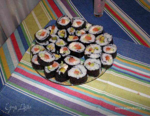 Роллы с рыбой