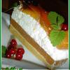Торт без выпечки с йогуртом и персиками