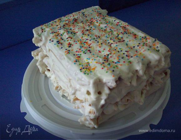 Торт из вафельных трубочек со сгущенкой рецепт