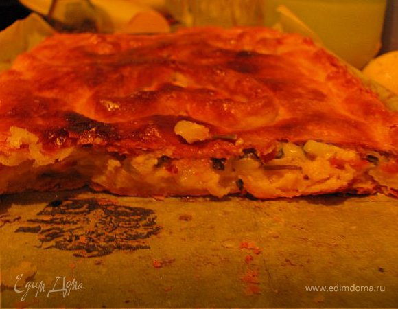 Сырно-луковый пирог