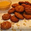 Гречишные коржики с мёдом и кедровыми орешками.