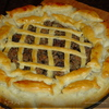 Пирог с мясом и грибами