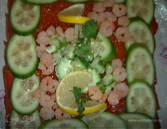 """Шведский рыбный торт """"Smörgåstårta"""" (Смёргасторте)"""