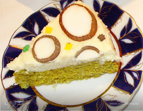 """Сочный кокосовый торт """"НЛО ;)"""""""