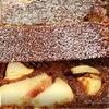 Шоколадный манник с карамельными яблоками