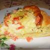 Пирог с семгой, сыром, картофелем и кунжутом (эксперимент №2)