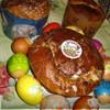 Кулич с цукатами, изюмом и орехами