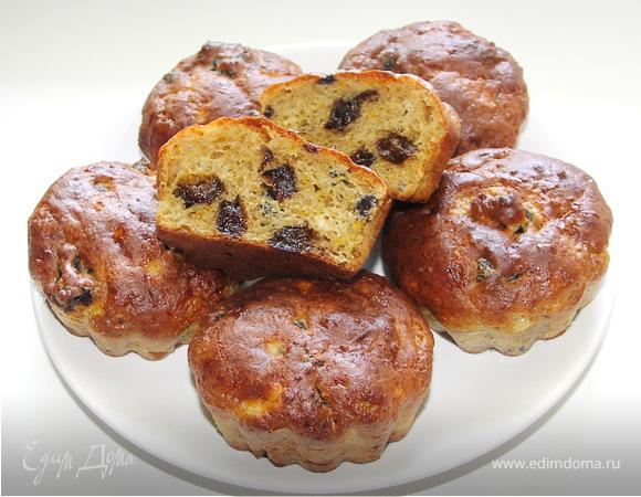 Ржаные творожные кексы с черносливом.