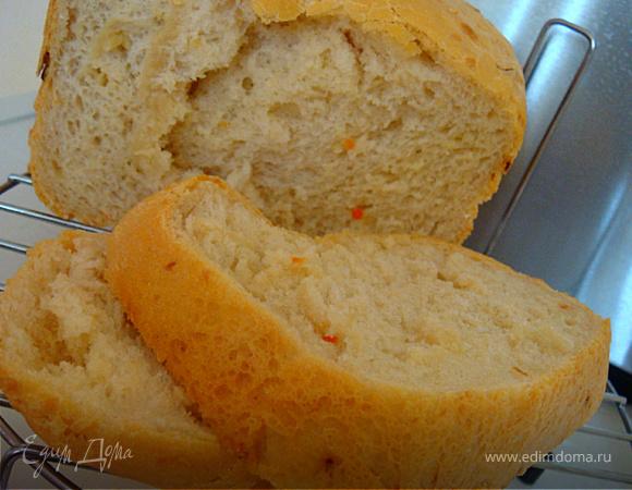 Хлебушек с сыром и кунжутом (рецепт для хлебопечки)