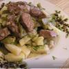 Говядина с картошечкой и стручковой фасолью в горшочке