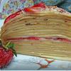 Блинный, вкусный, весенний тортик с нежным заварным кремом :)