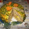 Мясной слоеный пирог