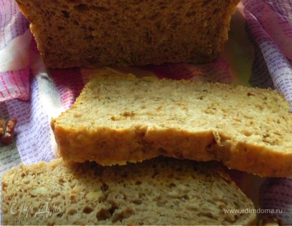 Хлеб гречневый с орехами