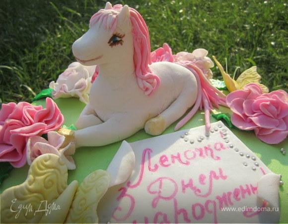 """Торт """"Лошадка с розовой гривой"""""""