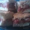 Творожный пирог с карамелизованными фруктами.