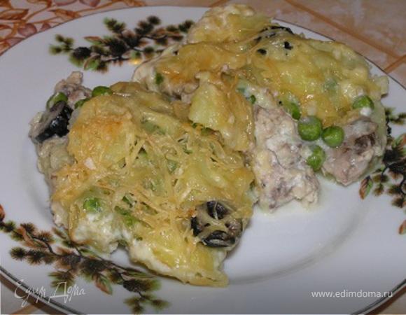 Гратен с тунцом и картофелем