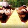 Вишня с шоколадом и миндальным кремом