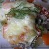 Запеченные овощи со свининой под сырным пальто