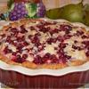 Творожный пирог с грушами и брусникой