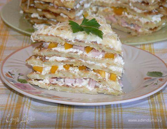 закусочный торт из кабачка