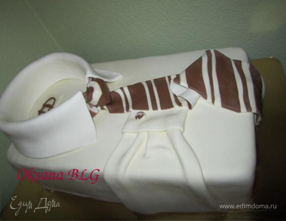"""Торт """"Рубашка"""" все съедобно:))"""
