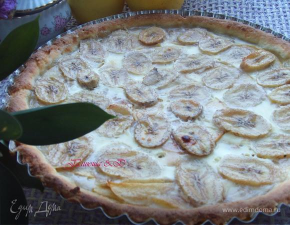Яблочно-банановый пирог