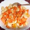 Салат из папайи, бананов и апельсина