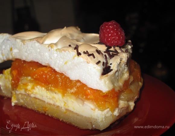 Творожный пирог ''Зимнее солнце''