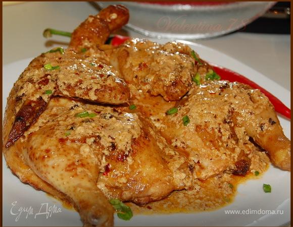 Цыпленок тапака по-шкмерски.