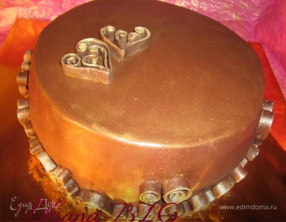 """Торт """" В шоколадно-кофейных тонах"""""""