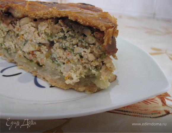 Пирог с куриным фаршем