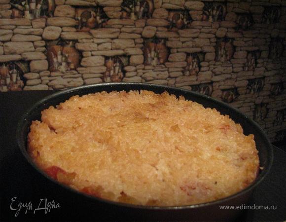 Запеканка из тыквы с рисом и яблоками