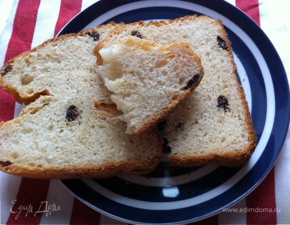 Молочный хлеб с изюмом