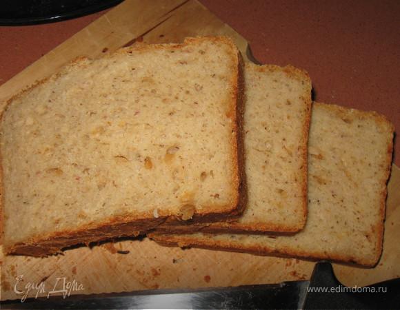Сырно-овсяный хлеб на кефире с луком и орегано
