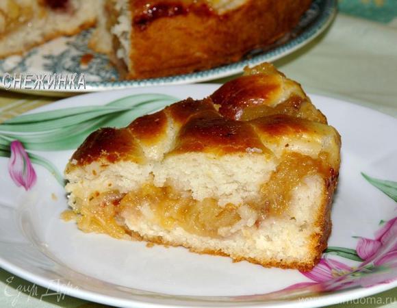 Пирог с яблочной стружкой (постный)