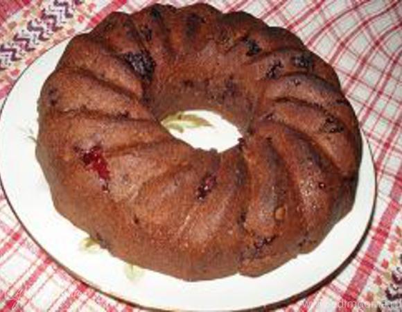 Вишнево-шоколадный кекс (постный)
