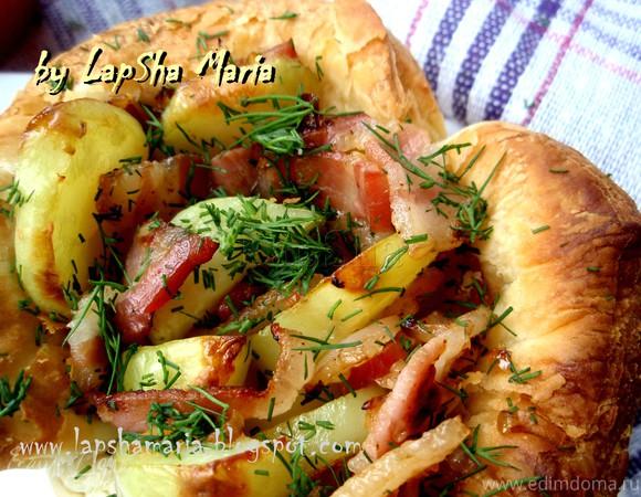Тарт с картофелем и беконом от Юлии Высоцкой