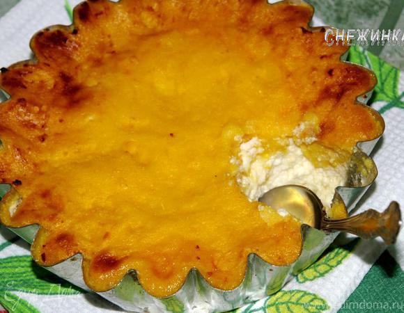 Творожно-манная запеканка с апельсином