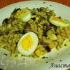 Быстрая запеканка с макаронами, грибами и яйцами