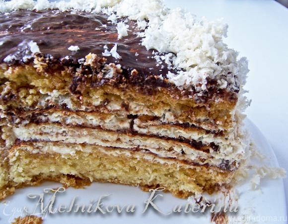 """Бисквитно-вафельный торт """"Этюд"""""""