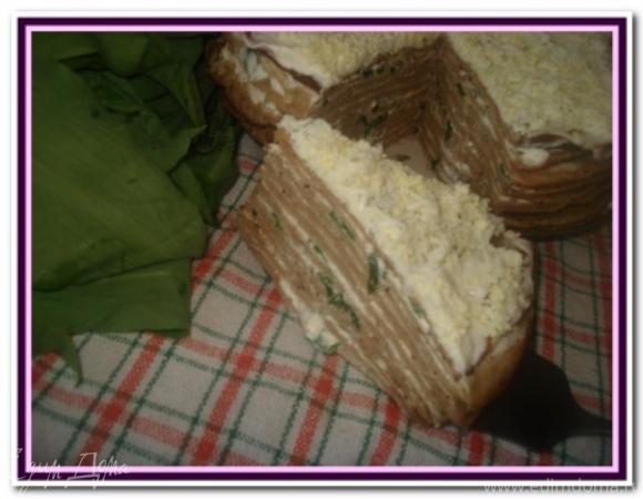 Печеночный торт и печеночные рулеты с черемшой
