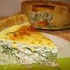 Сырный киш с брокколи и курицей