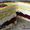 Сметанный торт с вишней и яичным ликером