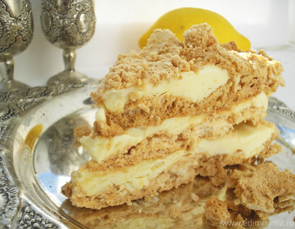 Торт-мороженое с лимонным кремом