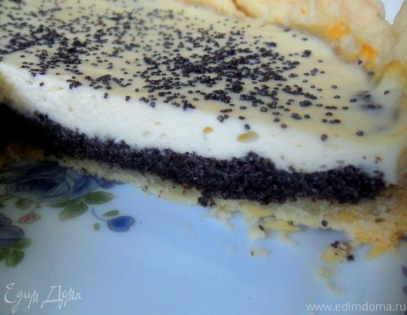 Маковый пирог с ванильным кремом