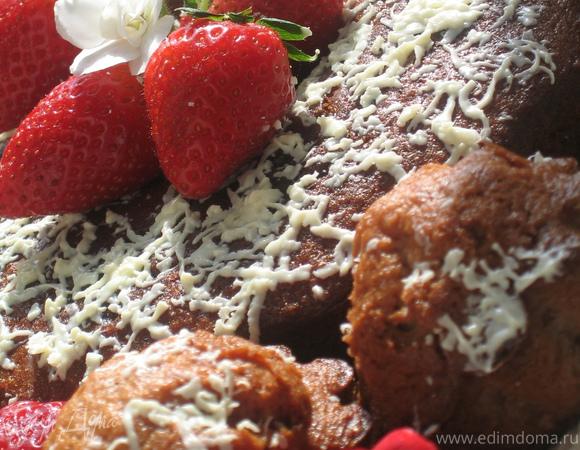 Маффины из белого шоколада и клубники