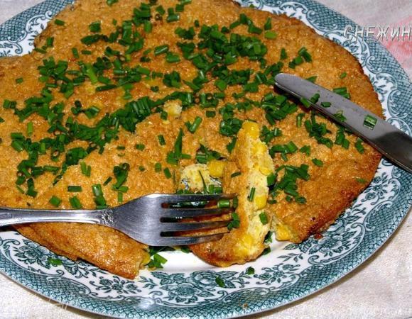 Мексиканский омлет с кукурузой